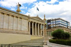 The Academy of Athens, Greece stock photography