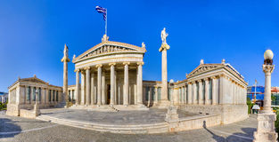 Academy of Athens panorama, Greece. HDR panorama of the Academy of Athens, Greece Stock Photos