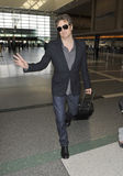 Academy award winner Colin Firth is seen at LAX Stock Photography