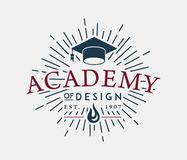 Academy of Design. Is a illustration about studying and learning vector illustration