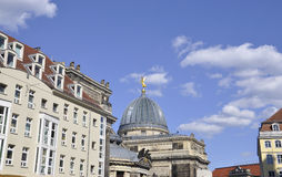 Academy of Fine Arts Cupole from Dresden in Germany royalty free stock image