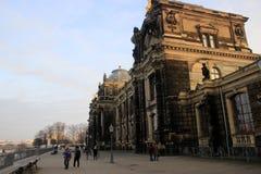 Academy of fine arts in Dresden. Brühl's terrace Royalty Free Stock Photo