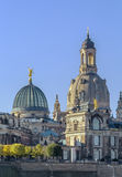 Academy of Fine Arts and Frauenkirche, Dresden Royalty Free Stock Photo