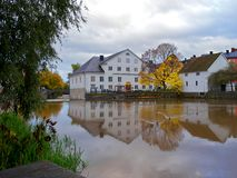 The Academy Mill in Uppsala, Sweden. The Academy Mill or better known as Bishop´s house in the film Fanny and Alexander. Since 1950 the county museum of stock images