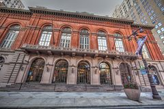 Academy of Music. Facade of the Academy of music located in the Avenue of the Arts in Philadelphia, Pa. USA. Jan 15, 2017 stock photos