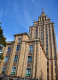 The Academy of Sciences. RIGA LAVTIA 09 17 2015: The Academy of Sciences ( Stalin Birthday Cake) is the official science academy of Latvia The academy was Royalty Free Stock Photography