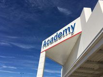 Academy Sports Store Storefront Sign stock image