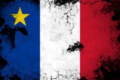 Acadia ржавый и иллюстрация флага grunge иллюстрация вектора