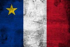 Acadia ржавый и иллюстрация флага grunge иллюстрация штока