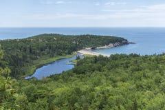 Acadia - Ansicht von der Bienenstock-Spur Lizenzfreie Stockbilder