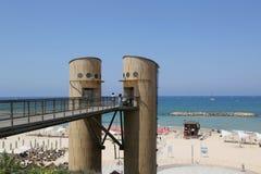Acadia Beach Elevator Tower in Herzliya, Israel. Royalty Free Stock Images