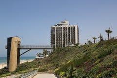 Acadia Beach Elevator Tower in Herzliya, Israel. Stock Photos