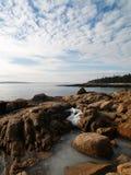 Acadia-Eis und Meer Lizenzfreie Stockfotos