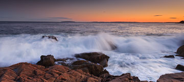 Acadia National Park. Sunset over the rocky coast line, otter cliff acadia national park Royalty Free Stock Photos