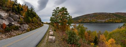 Acadia National Park in Autumn royalty free stock photography