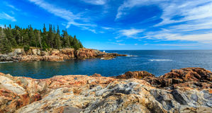 Acadia. National park, blue sky over the atlantic ocean Stock Image