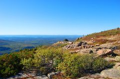 Acadia National Park, Maine, USA. Top of the Cadillac Peak in Acadia National Park, Maine, USA Stock Images