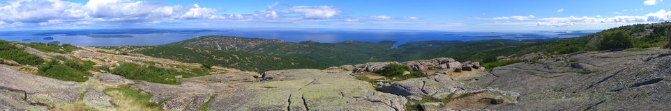 Acadia National Park Panorama of Frenchman Bay Royalty Free Stock Photo