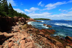Acadia National Park. Rocky coast view Stock Image