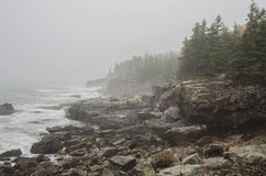 Acadia National Park rocky coast Royalty Free Stock Images