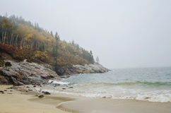 Acadia National Park Sand beach Stock Images