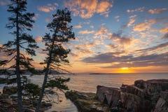 Acadia National Park sunrise Stock Image