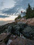 Acadia-Nationalpark - Bass Harbor Light Stockbilder