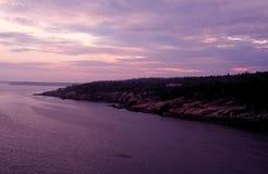 Acadia-Nationalpark an der Dämmerung Stockbilder