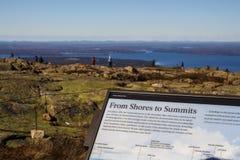 Acadia-Nationalpark im Stangen-Hafen, USA, 2015 Lizenzfreie Stockbilder