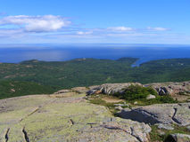 Acadia-Nationalpark-Panorama der Franzose-Bucht Stockbild