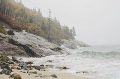 Acadia-Nationalpark-Sand-Strand Lizenzfreie Stockfotos