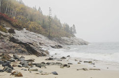 Acadia-Nationalpark-Sand-Strand Stockfotos