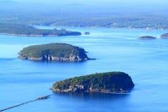 Acadia-Nationalpark-Vogelperspektive Stockfoto