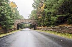 Acadia-Nationalparkbrücke Stockbild