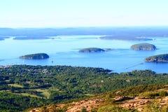 Acadia parka narodowego widok z lotu ptaka Zdjęcia Royalty Free
