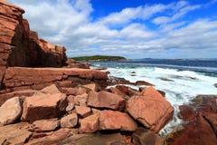 Acadia parka narodowego wybrzeże Zdjęcia Royalty Free