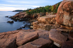 Acadia Seacoast. The Seacoast At Sunrise, Acadia National Park Stock Image