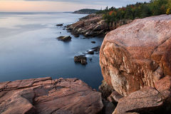 Acadia Seacoast. The Seacoast In Morning Light At Acadia National Park, Maine Stock Photo