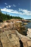 Acadian coastline. Acadian rocky coastline at Maine USA Royalty Free Stock Images