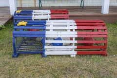Acadian Lobster Trap Royalty Free Stock Photography