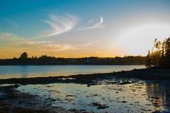 Acadian niebo różdżki woda Obrazy Royalty Free