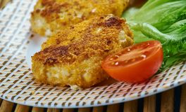 Acadian Salt Cod Fish Cakes. From Prince Edward Island.Canadian food Royalty Free Stock Images