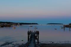 Acadian woda i nieba Obraz Stock