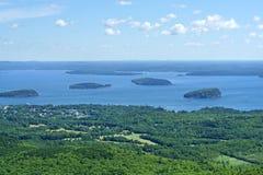 Acadianationalpark öar arkivbilder