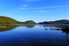 Acadianationalpark Eagle Lake Arkivbild