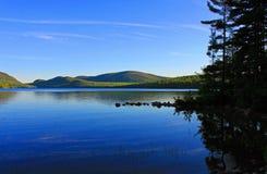 Acadianationalpark Eagle Lake Arkivbilder