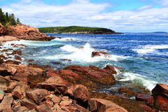 Acadianationalpark Maine Arkivbild