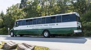 Acadianationalparken turnerar bussen Royaltyfri Foto