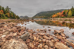 Acadianationalparklövverk Arkivfoton