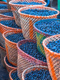 Acai in baskets Stock Image